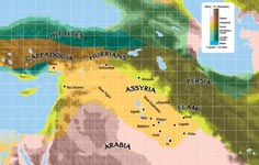 Mesopotamian regional map